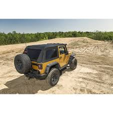 jeep wrangler 2 door modified rugged ridge 13750 39 bowless soft top black diamond 07 16 jeep