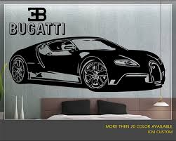 custom bugatti bugatti veyron super sport car wall decal 62