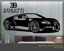 custom bugatti bugatti veyron super sport car wall decal 62