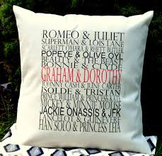 personalized famous couples pillow housewarming gift