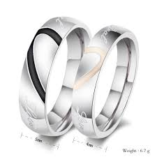 wedding rings malta 2015 new heart shaped titanium steel rings rings wedding