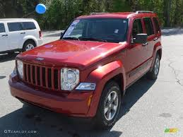 silver jeep liberty 2008 2008 inferno red crystal pearl jeep liberty sport 28397561