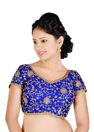 readymade blouse vamas designer ready made blouse blue vdbmx486slrb vm n a
