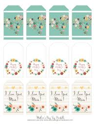 mother u0027s day printable gift tags blooming homestead