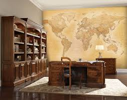 old world map for a office with paste wall murals ireland old world map mural