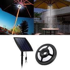solar powered umbrella lights 36 leds portable patio umbrella light 2 5w 6v solar panel and usb