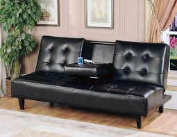 furniture leather futons futon bed with storage contemporary