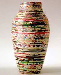 recycled paper vase cool hunting