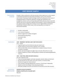 Chef Resume Objective Examples by Chef Resume Template Free Resume Example And Writing Download