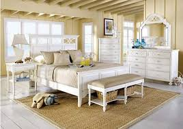 coastal bedrooms design ideas with matching white furniture