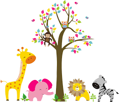 kids room wall decal ideas for wall decorations colorful animal