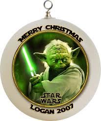 wars yoda ornament custom gift