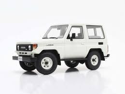 toyota cruiser white 1 18 cult scale toyota landcruiser bj70 street model car cml067