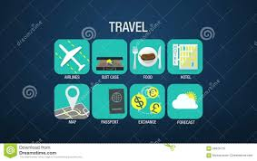 travel forecast images Travel icon set animation airline suitcase food hotel map jpg