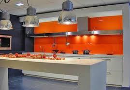 peinture orange cuisine aménagement deco cuisine peinture orange