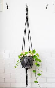 modern hanging planters diy modern macrame hanging planter deuce cities henhouse