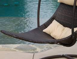 brown wicker hanging swing chair gadget flow hastac 2011