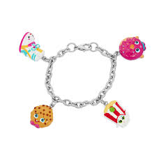 halloween charm bracelets amazon com shopkins painted character charm bracelet sneaky wedge