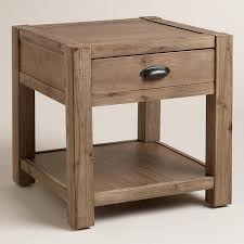 Rustic Accent Table Quade End Table In Brown