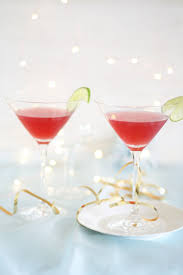 christmas martini festive cranberry champagne and vodka cocktail a splash of vanilla