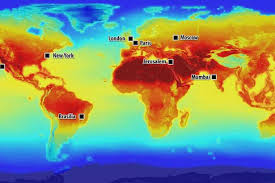 global map earth nasa s astonishing world map shows how climate change will affect