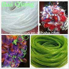 poly decoration mesh tubing ribbon for wreaths buy poly