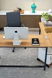Corner Computer Table Tribesigns Modern L Shaped Desk Corner Computer Desk Pc Latop