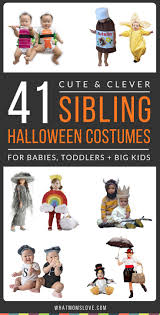 Halloween Crafts For Infants by Best 25 Sibling Halloween Costumes Ideas On Pinterest Brother