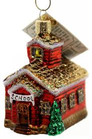 old world christmas house glass ornament contemporary