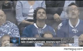 John Snow Meme - jon snow takes in a hockey game meme guy