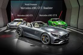 on the road in the 2018 mercedes amg gt c roadster automobile