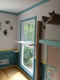 Shelves For Cats by Cat Shelf Across A Window Lets Cats Look Outside Easily Also Has