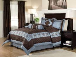 Modern Brown Bedroom Ideas - dark blue and brown bedroom modern sham sets queen white rectangle