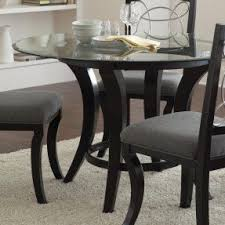 silverado chrome 47 round dining table glass top dining table round modern wood base foter for 5