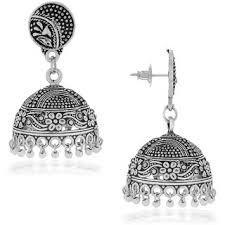 jhumkas earrings spargz beautiful oxidised silver big jhumkas earring for women