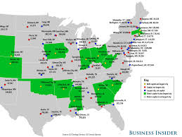 50 States Map With Capitals by State Capitals Largest Cities Map Business Insider