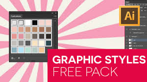 free graphic styles pack for illustrator tutorial youtube