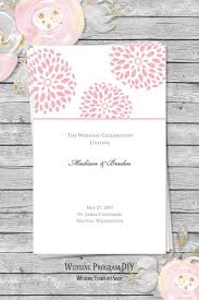 printable wedding program template wedding program templates diy printable order of service wedding