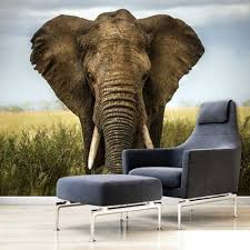 compare prices on paper 3d elephant online shopping buy low price elephants on the grassland livingroom background 3d wallpaper mural photowall 3d papel de pared pw1435727303