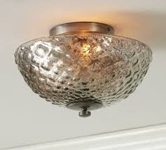 Traditional Ceiling Light Fixtures Hobnail Mercury Glass Flushmount Traditional Ceiling Lighting
