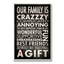 stupell industries home decor our family is crazzzy inspirational stupell industries home decor our family is crazzzy inspirationa
