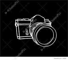 illustration of camera sketch