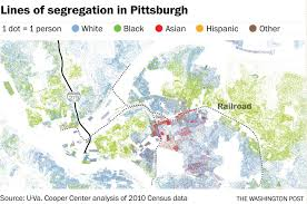 Pittsburgh Neighborhood Map How Railroads Highways And Other Man Made Lines Racially Divide