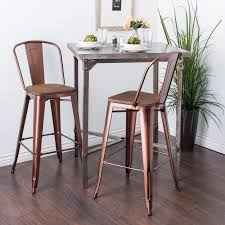 Copper Bistro Chair Carbon Loft Tabouret 30 Inch Wood Seat Brushed Copper Bistro Bar