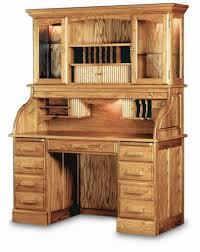 Oak Desk With Hutch 54 Solid Oak Pedestal Rolltop Desk With Finish Options
