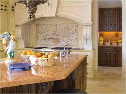 vintage backsplash tile vintage kitchen decors with cream painted