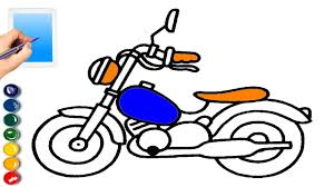 motorcycle coloring page for children drawing motorcycle