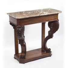 antique marble top pedestal table console table antique william iv mahogany marble top console table