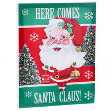santa land here lighted sign christmas signs and art canada retrofestive ca
