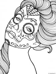 sugar skull coloring pages day of the dead free skull coloring